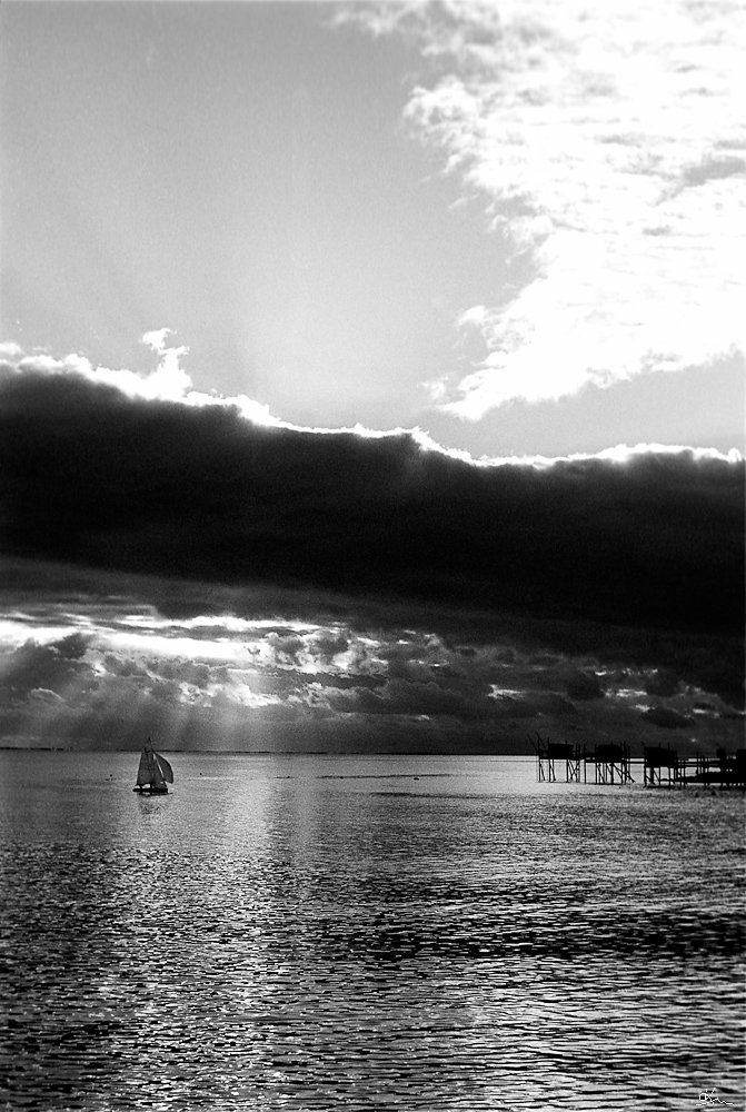Dériveur sur la baie d'Angoulins